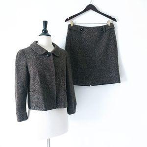 Banana Republic Wool Blend 2 Piece Skirt Suit